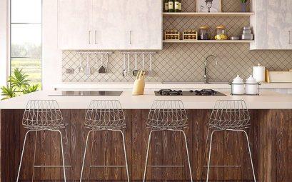 barre de credence dans une cuisine