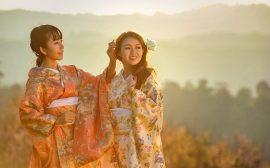 kimono japonais chez les femmes
